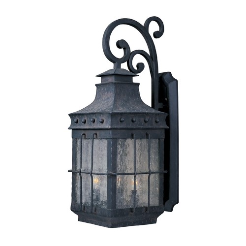 Maxim Lighting Outdoor Wall Light with Clear Glass in Country Forge Finish 30084CDCF