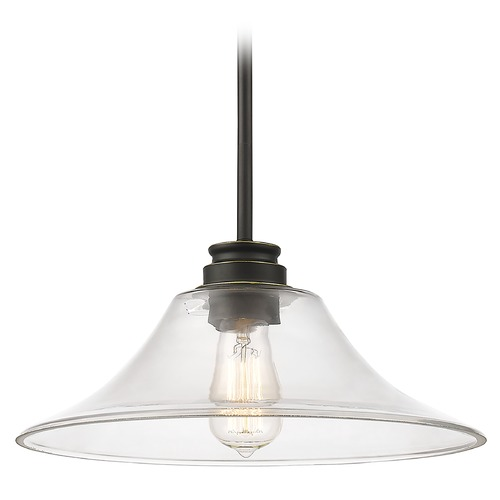 Z-Lite Z-Lite Annora Olde Bronze Pendant Light with Bell Shade 428MP14-OB