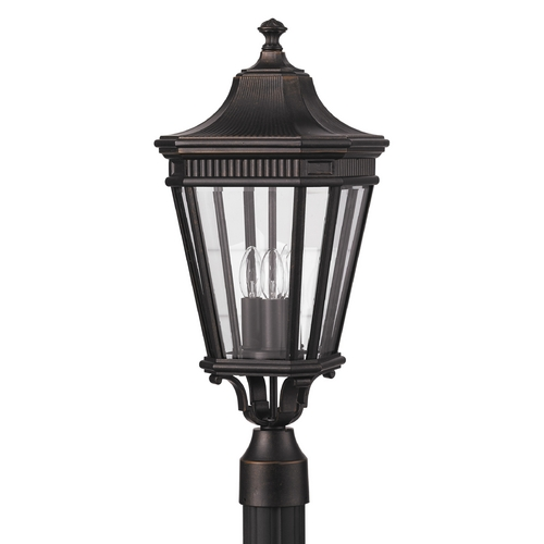 Feiss Lighting Post Light with Clear Glass in Grecian Bronze Finish OL5407GBZ