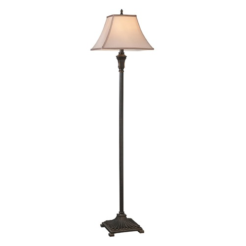 Dimond Lighting Dimond Lighting Brown Floor Lamp with Square Shade D2370