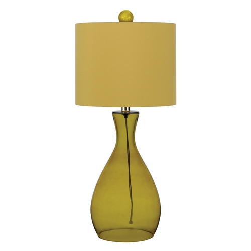 AF Lighting Table Lamp with Yellow Shade in Sugar Cane Finish 8520-TL