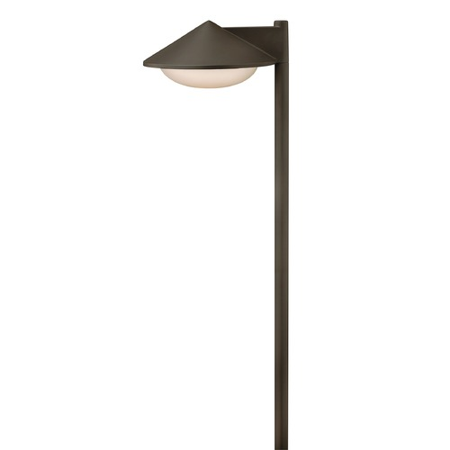 Hinkley Lighting Modern LED Path Light with White Glass in Bronze Finish 1502BZ-LED