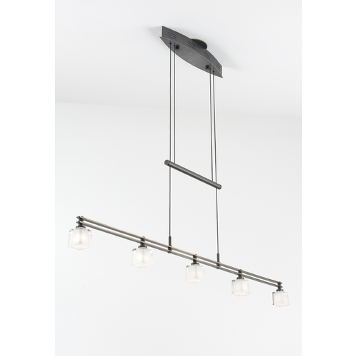 Holtkoetter Lighting Holtkoetter Modern Low Voltage Pendant Light with White Glass in Hand-Brushed Old Bronze Finish 5515 HBOB G5012