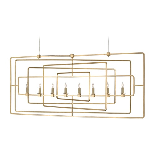 Currey and Company Lighting Currey and Company Lighting Metro Gold Leaf Island Light 9542
