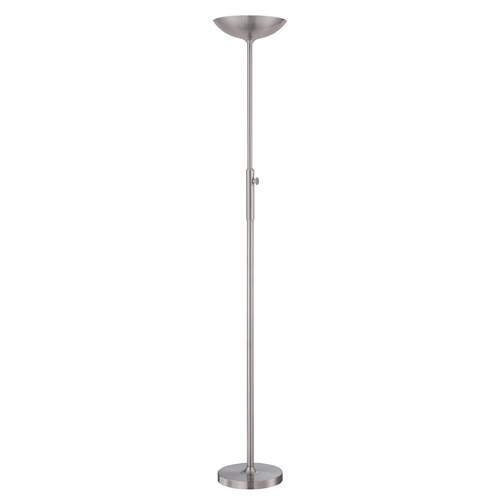 Lite Source Lighting Lite Source Lighting Lemuel Polished Steel LED Torchiere Lamp LS-82710PS