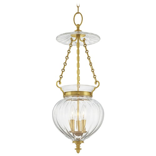 Hudson Valley Lighting Hudson Valley Lighting Gardner Aged Brass Pendant Light with Bowl / Dome Shade 783-AGB