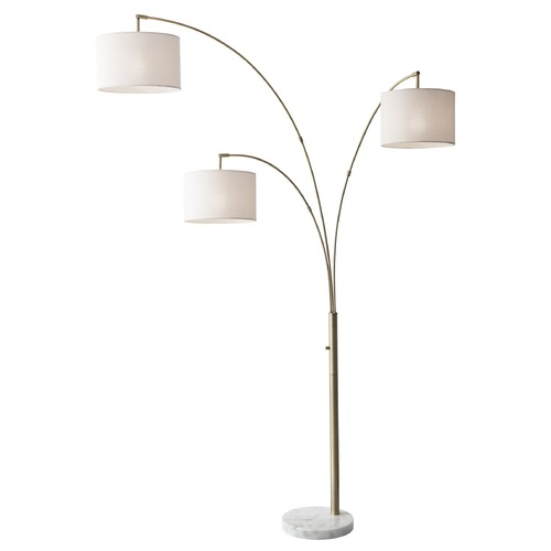 Adesso Home Lighting Adesso Home Bowery Antique Brass Arc Lamp with Drum Shade 4250-21