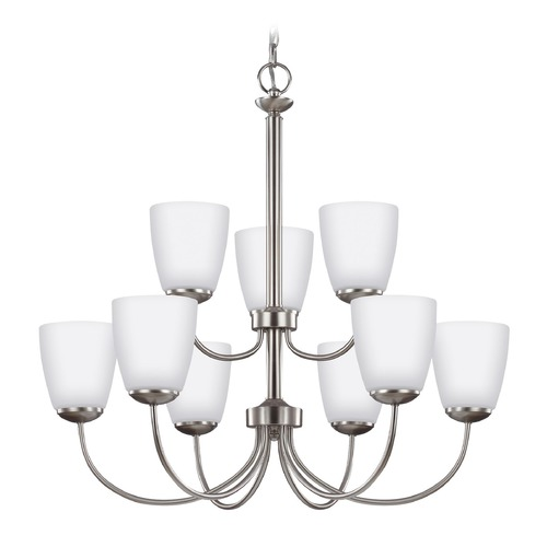 Sea Gull Lighting Sea Gull Lighting Bannock Brushed Nickel Chandelier 3116609-962