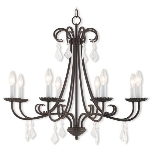 Livex Lighting Livex Lighting Daphne English Bronze Crystal Chandelier 40878-92