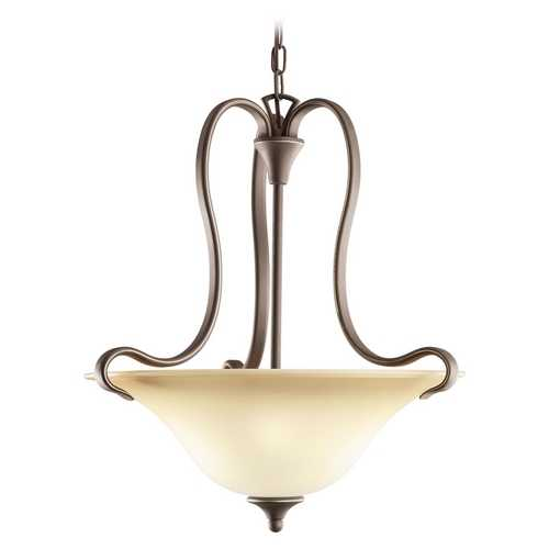 Kichler Lighting Kichler Pendant Light with Beige / Cream Glass in Olde Bronze Finish 3585OZ
