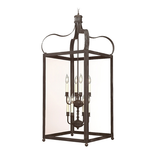 Troy Lighting Pendant Light with Clear Glass in Natural Rust Finish F8923NR