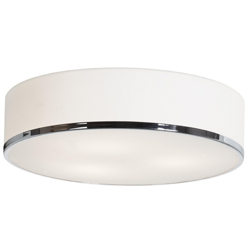 Access Lighting Modern Flushmount Light With White Gl In Chrome Finish 20672 Ch Opl