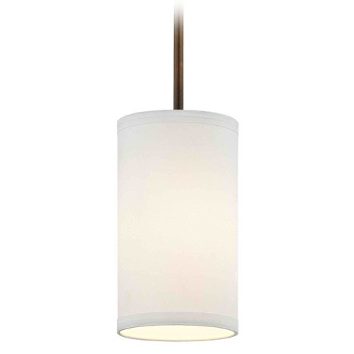 Design Classics Lighting Milo Bronze Mini-Pendant Light with Cylindrical Shade 6542-604 SH9672  KIT