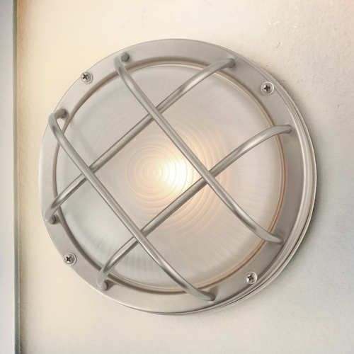 Design Classics Lighting Bulkhead Marine Outdoor Ceiling / Wall Light - 8 Inches Wide 39456 SS