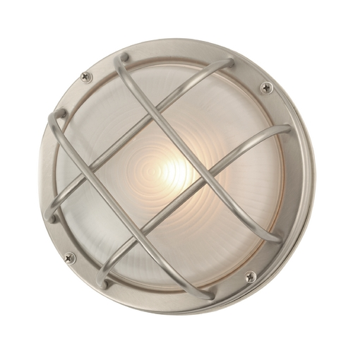 Design Classics Lighting Bulkhead Marine Outdoor Ceiling / Wall Light - 8-Inches Wide 39456 SS