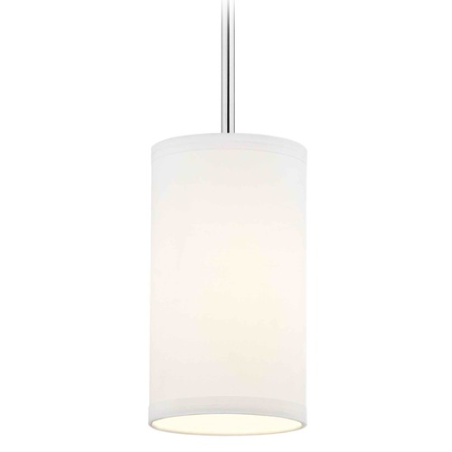 Design Classics Lighting Milo Chrome Mini-Pendant Light with Cylindrical Shade 6542-26 SH9672