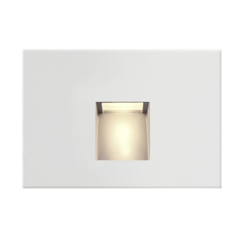 Recesso Lighting by Dolan Designs LED Horizontal Recessed Step Light White Finish STEPLT-H-WH