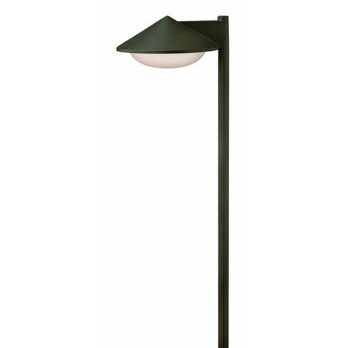 Hinkley Lighting Modern Path Light with White Glass in Bronze Finish 1502BZ