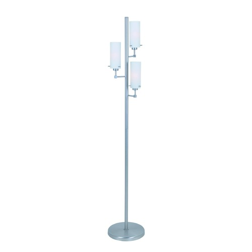 Lite Source Lighting Lite Source Scarlett Polished Steel Floor Lamp with Cylindrical Shade LS-82755