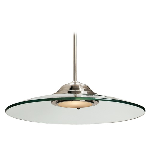 Access Lighting Access Lighting Phoebe Brushed Steel Pendant Light with Bowl / Dome Shade 50444-BS/8CL