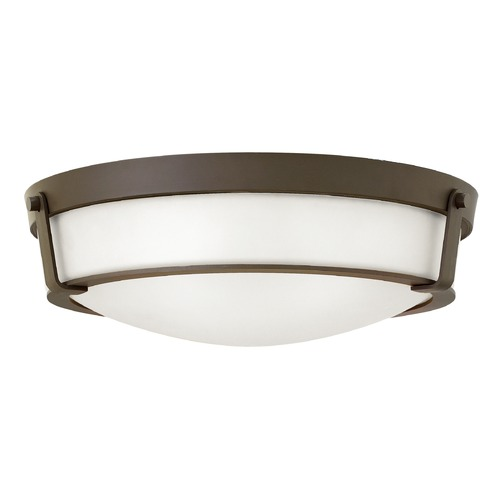 Hinkley Lighting Hinkley Lighting Hathaway Olde Bronze Flushmount Light 3226OB-WH