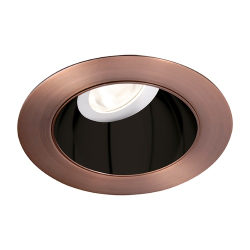 WAC Lighting WAC Lighting Round Black Copper Bronze 3.5-Inch LED Recessed Trim 3000K 1195LM 55 Degree HR3LEDT318PF830BCB