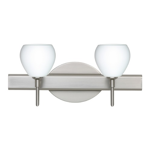 Besa Lighting Besa Lighting Tay Satin Nickel LED Bathroom Light 2SW-560507-LED-SN