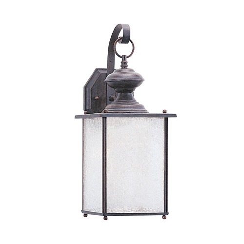 Sea Gull Lighting Frosted Seeded Glass Outdoor Wall Light Bronze Sea Gull Lighting 89382-08