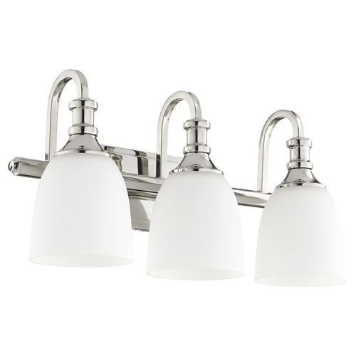 Quorum Lighting Quorum Lighting Richmond Polished Nickel Bathroom Light 5011-3-62