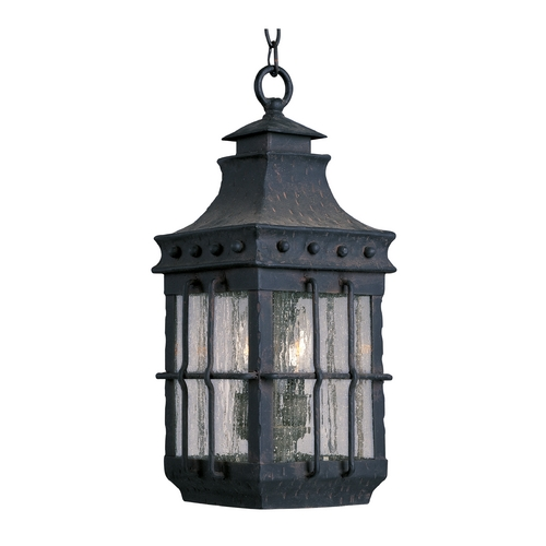 Maxim Lighting Outdoor Hanging Light with Clear Glass in Country Forge Finish 30088CDCF