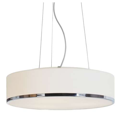Access Lighting Modern Pendant Light with White Glass in Chrome Finish 20673-CH/OPL