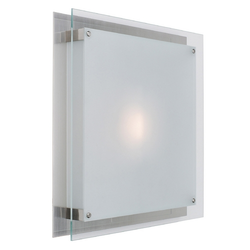 Access Lighting Access Lighting Vision Brushed Steel LED Flushmount Light 50032LEDD-BS/FST