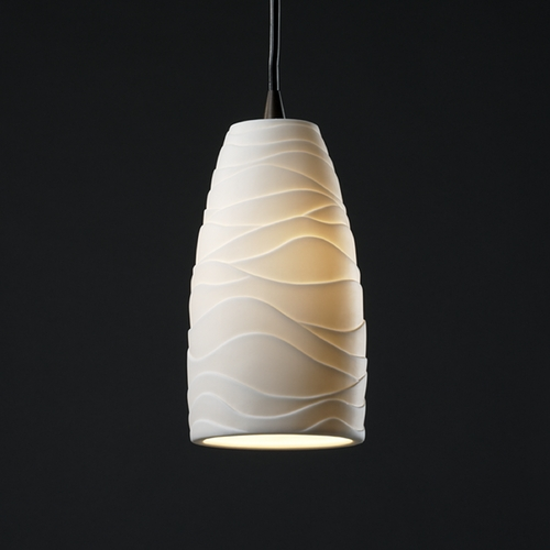 Justice Design Group Justice Design Group Limoges Collection Mini-Pendant Light POR-8816-28-WAVE-DBRZ
