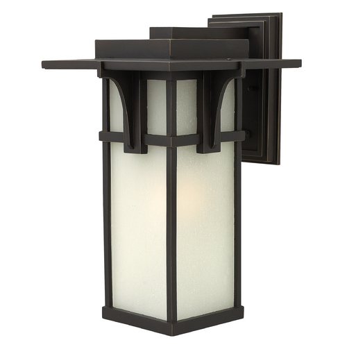 Hinkley Lighting Outdoor Wall Light with White Glass in Oil Rubbed Bronze Finish 2235OZ
