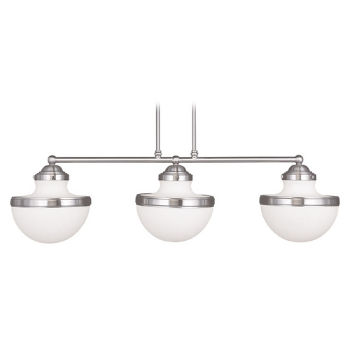 Livex Lighting Livex Lighting Oldwick Brushed Nickel Island Light 5718-91