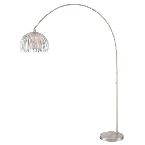 Lite Source Lighting Lite Source Lotuz Chrome Arc Lamp with Bowl / Dome Shade LS-83161