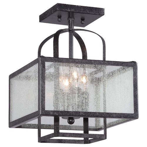 Minka Lavery Seeded Glass Semi-Flushmount Light Bronze Minka Lavery 4876-283