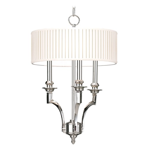 Hudson Valley Lighting Hudson Valley Lighting Mercer Aged Brass Pendant Light with Drum Shade 7913-AGB