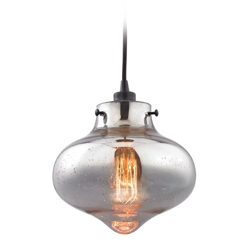 Elk Lighting Elk Lighting Kelsey Oil Rubbed Bronze Mini-Pendant Light with Bowl / Dome Shade 31955/1