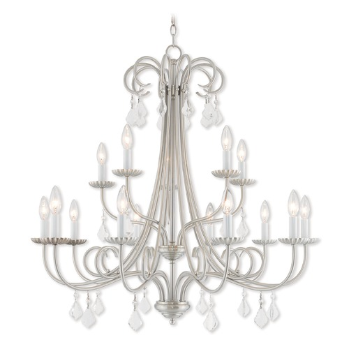 Livex Lighting Livex Lighting Daphne Brushed Nickel Crystal Chandelier 40879-91