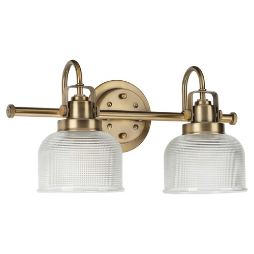 Progress Lighting Progress Lighting Archie Vintage Brass 2-Light Bathroom Light P2991-163