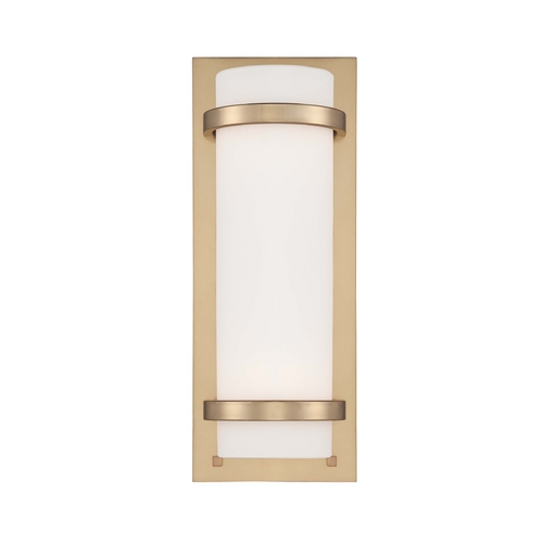 Minka Lavery Sconce Wall Light with White Glass in Honey Gold Finish 341-248