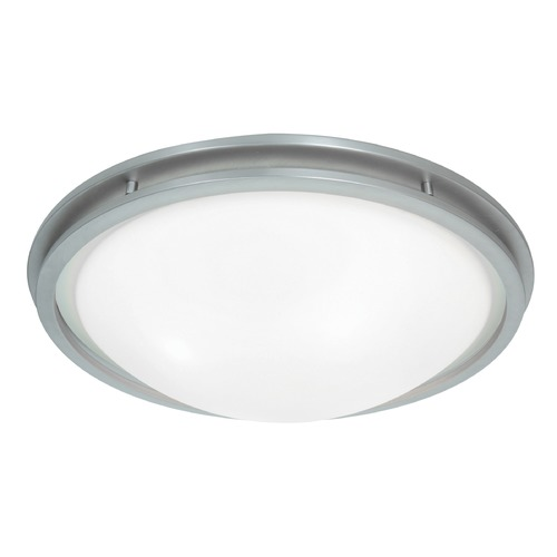 Access Lighting Access Lighting Aztec Brushed Steel Flushmount Light 20456GU-BS/WHT
