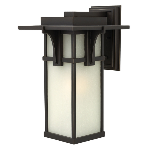 Hinkley Lighting Etched Seeded Glass Outdoor Wall Light Oil Rubbed Bronze Hinkley Lighting 2235OZ-GU24