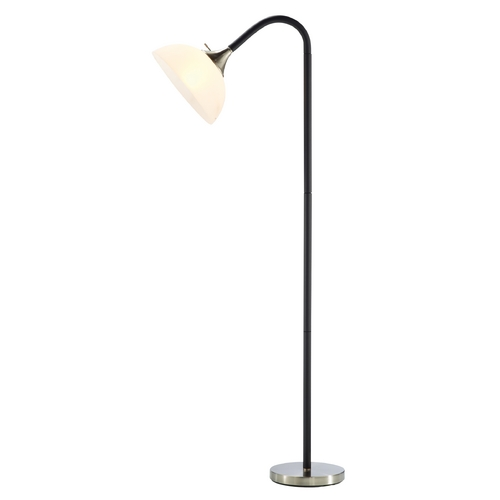 Adesso Home Lighting Adesso Home Lighting Gander Black, Satin Steel Floor Lamp 7007-01