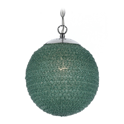 AF Lighting Modern Pendant Light with Green Shade 8546-1H