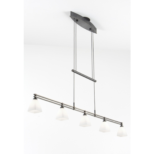 Holtkoetter Lighting Holtkoetter Modern Low Voltage Pendant Light with White Glass in Hand-Brushed Old Bronze Finish 5515 HBOB G5015