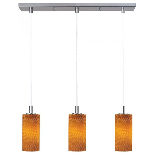 ET2 Lighting Carte Satin Nickel Multi-Light Pendant with Cylindrical Shade E93053-14SN