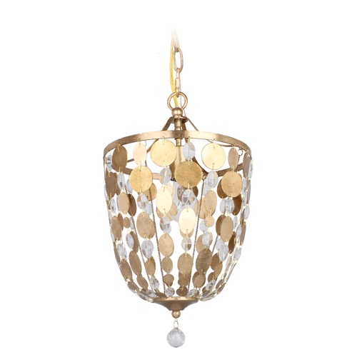 Crystorama Lighting Crystorama Lighting Bella Antique Gold Mini-Pendant Light 560-GA
