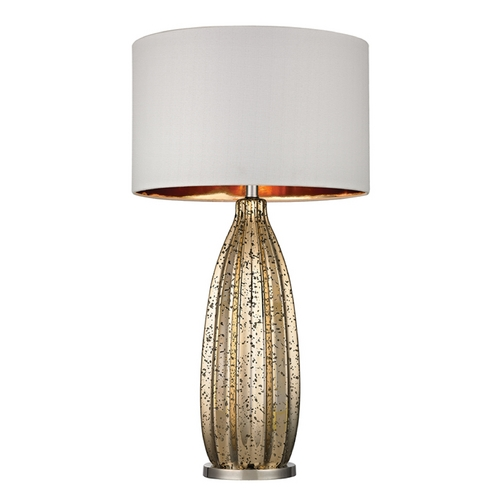 Dimond Lighting Table Lamp with White Shades in Antique Gold Mercury with Polished Nickel Finish D2533
